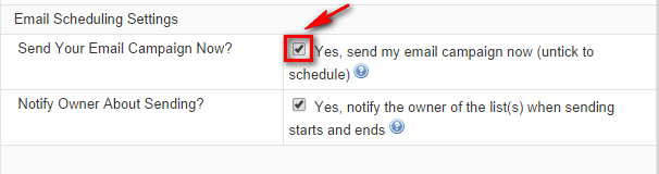 Email Schedulling